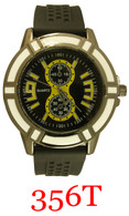 356T Men's Silicone Band Watch