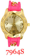 7964S Ladies' Silicone Chain Stone Band