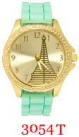 3054T Ladies' Silicone Band Watch
