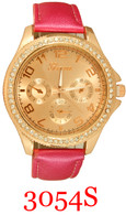 3054S Ladies' Leather Band Watch