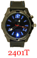 2401T Men's Light Up Silicone Band Watch