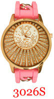 3026S Ladies' Silicone Chain Band Watch