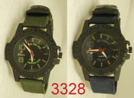 mens army 3238 velcro band watch w/compass