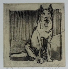 Howell-Sickles, Donna, Seated Dog