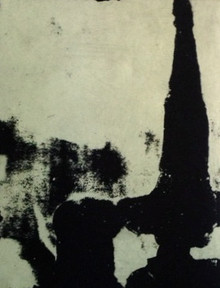 """Calaway, John, untitled (4), 2000, polymer gravure, 11 x 15 in. Arches Cover White, signed lower rt. margin """"Calaway"""""""