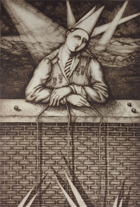 Speed, Julie, Nightfishing, copperplate etching, 22 x 15 in., Flatbed Imp. 3/5