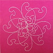 Conner, Ann, Bollywood rose, color woodcut,2008, ed. 15, 13 x 13 in. sheet