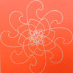 Conner, Ann, Bollywood, neon orange, color woodcut,2008, ed. 15, 13 x 13 in. sheet