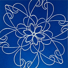 Conner, Ann, Bollywood, blue, color woodcut,2008, ed. 15, 13 x 13 in. sheet