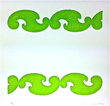 Conner, Ann, Bel Air, green, color woodcut,2008, ed. 15, 13 x 13 in. sheet