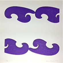 Conner, Ann, Bel Air, purple, color woodcut,2008, ed. 15, 13 x 13 in. sheet