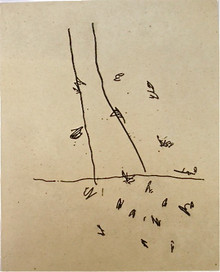 Scholder, Lawrence, Prelude, 1992, etching, chine collé, 17.5 x 14 in.