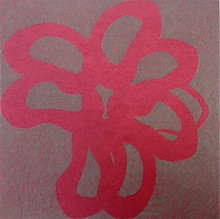 Surimono II, 2008, color aquatint and soft-ground etching w. chine collé, 18 x 15 in.