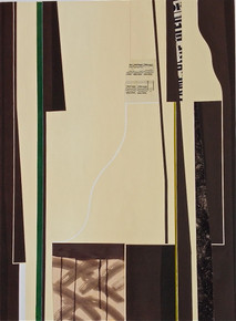 Pavlicek, John, Coda II, 1992, aquatint, relief, collage, 48 x 36 in.