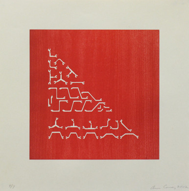 Conner, Ann, Beams 6, 2002, color woodcut, 18 x 18 in.