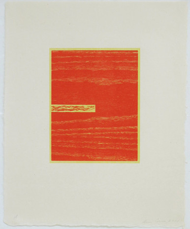 Conner, Ann, Logs 2, 2001, color woodcut, 20.5 x 16.5 in.