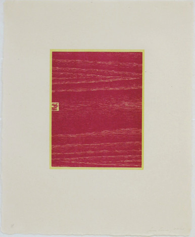 Conner, Ann, Logs 7, 2001, color woodcut, 20.5 x 16.5 in.