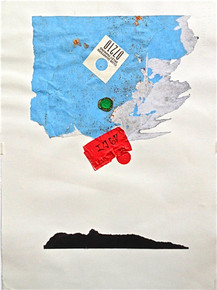 Smith, Mark L., Tibetan, Hope Suite, 2014, monotype, collage, mixed media, 24 x 18 in., archival carbon print avail.