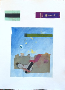 Smith, Mark L. India 5 (Snoopy), 2014, mixed media, 30 x 22 in. India paper