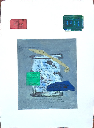Smith, Mark L. India 6, 2014, mixed media, 30 x 22 in. India paper