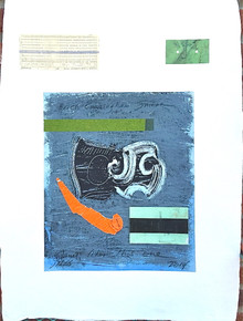 Smith, Mark L. India 1, 2014, mixed media, 30 x 22 in. India paper