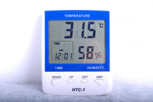 Room humidity and temperature meter