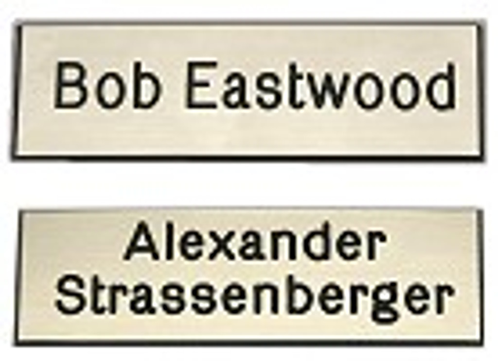 Engraved Trunk Name Plate - Two Lines