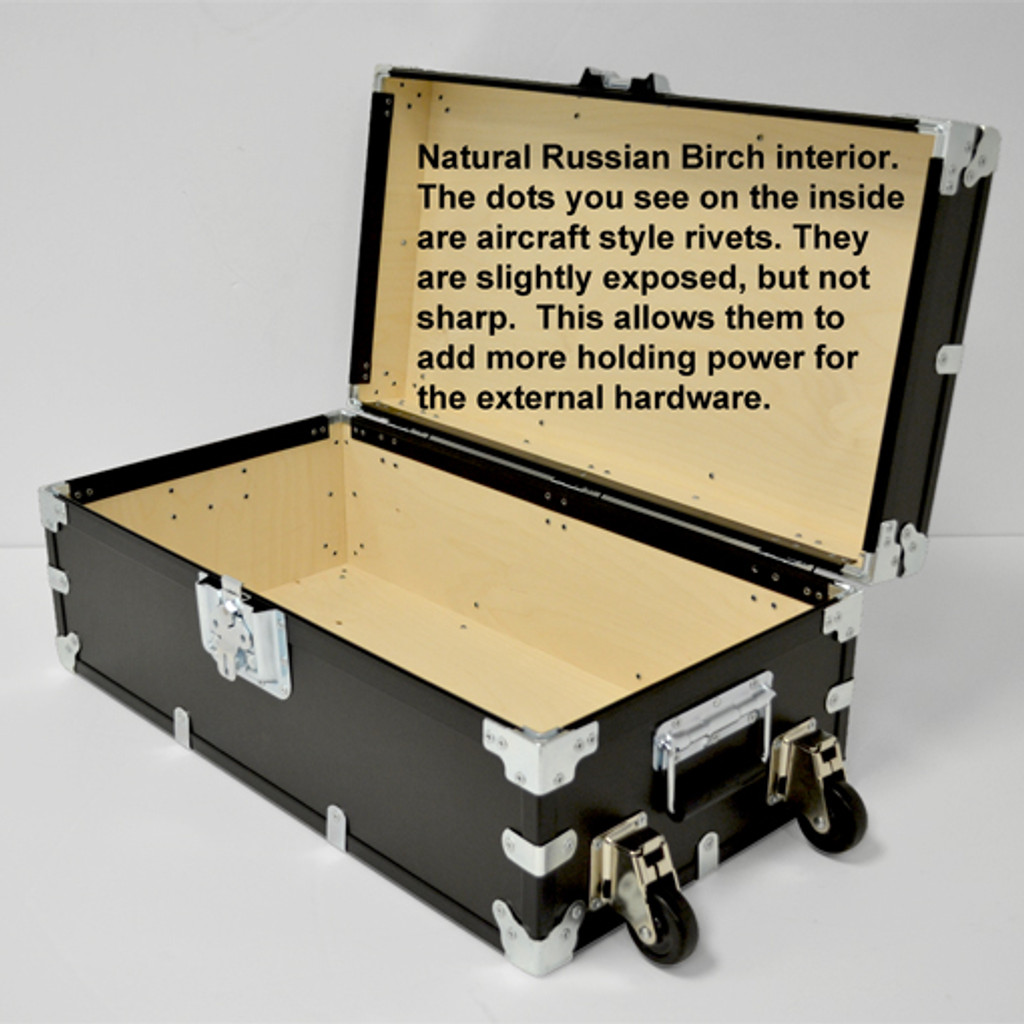 """Large Indestructo Travel Trunk - 32"""" x 17"""" x 13"""" - Opened View"""