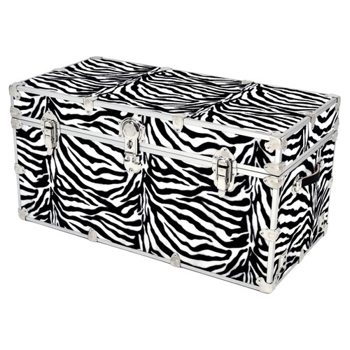 "Rhino Super Jumbo Zebra Trunk - 44"" x 24"" x 22"" - Front View"