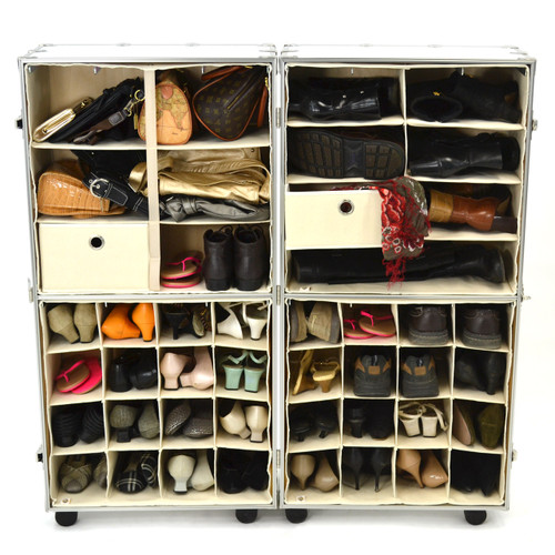 Rhino Urban Wardrobe inserts. three shelf insert (top left), four shelf insert (top right), shoe insert (bottom)