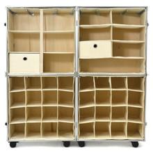 Rhino Urban Wardrobe inserts. Three shelf insert (top left), four shelf insert (top right), shoe inserts (bottom) empty