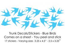 Blue Birds Trunk Decals/Stickers