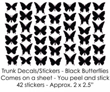 Black Butterflies Trunk Decals/Stickers