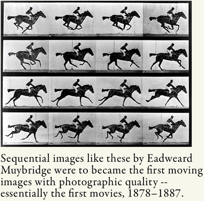 Muybridge's images of a galloping horse