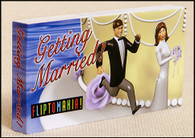 Getting Married flipbook shows those little plastic bride and groom figurines chase each other up a wedding cake