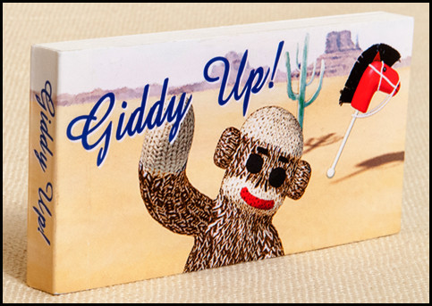 Sock Monkey - Giddy Up! Flipbook Cover
