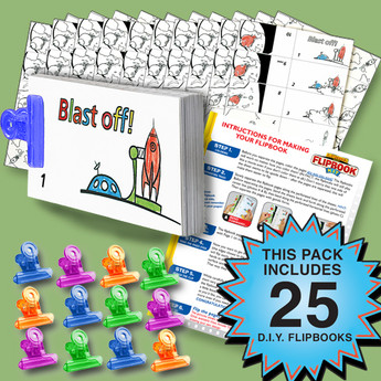 Rocket Flipbook Activity Pack