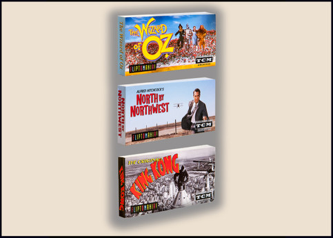 Fliptomania Movies Flipbook 3-Pack:  Wizard of Oz, North by Northwest, and King Kong (the original)