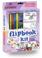 "Fliptomania Flipbook Kits easily jump-starts kids into the world of animation! They're fun, educational, creative AND success is ""built-in"" to the design!"