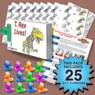 T. Rex Flipbook Activity Pack - 25 Sets