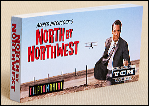 North by Northwest (Hitchcock) Flip book | Cary Grant running in cornfield, attacked by bi-plane