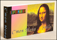 C'mon Mona (Lisa)... Smile! Flipbook shows Mona Lisa with a sly wink to the viewer.