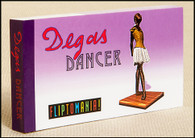 Fliptomania Degas Dancer flip book shows Degas' Little Fourteen Year Old Dancer comes to life and leap into the artist's brilliant painting, The Star.