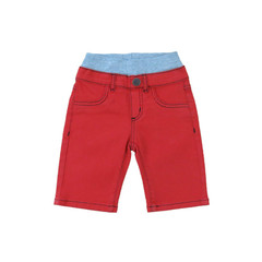 Fire Red Twill Shorts