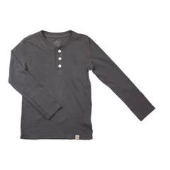 Henley Long Sleeve - Charcoal