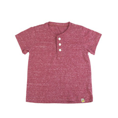 Slubbed Henley - Red