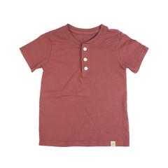 Henley T-Shirt - Rusty Red