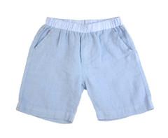 Linen Shorts - Light Blue