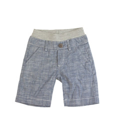 Chambray Shorts - Light Blue