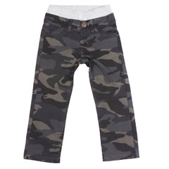 Camo Twill Pants - Navy